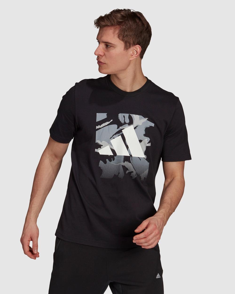 adidas Performance Graphic Tee T-Shirts & Singlets Black