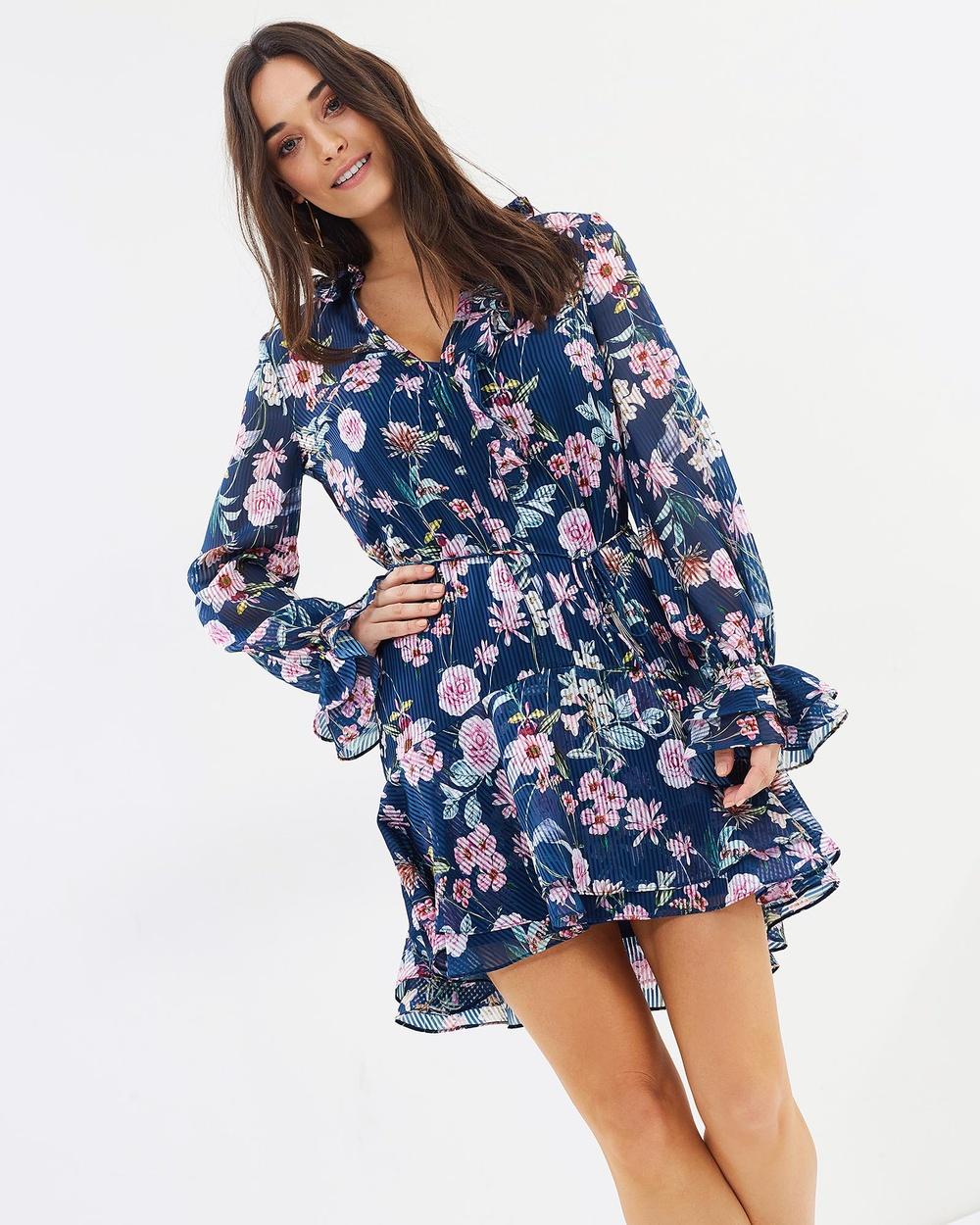 Cooper St Rita Long Sleeve Mini Dress Printed Dresses Print Rita Long Sleeve Mini Dress