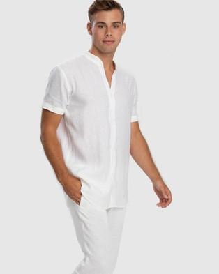 Aqua Blu Australia Serenity Linen Pant - Pants (White)