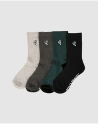 Santa Cruz - Mono Hand Socks 4-Pack - Teens