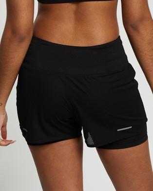 ASICS Ventilate 2 N 1 3.5 Inch Shorts Performance Black 2-N-1