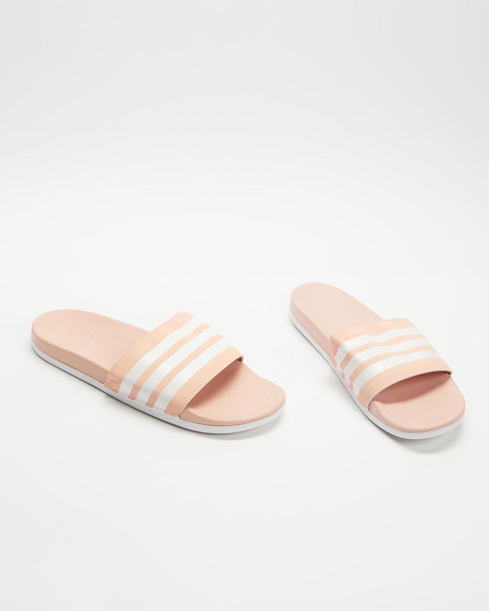 adidas Performance Adilette Comfort Slides Women's Vapour Pink & White