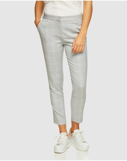 Oxford Mia Check Suit Trousers Grey