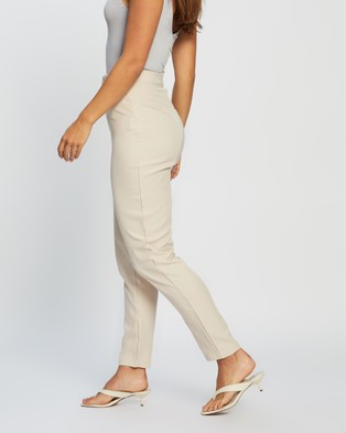 Missguided Co Ord Basic Cigarette Trousers - Pants (Cream)