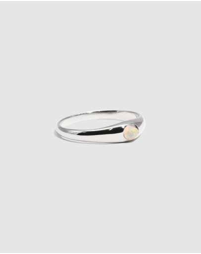 Molten Store The Silver Opal Mini Signet Ring