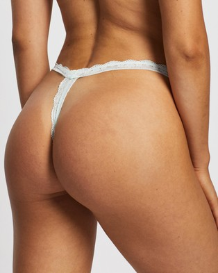 Cotton On Body Zoe Lace G String Briefs   3 Pack - Thongs & G-Strings (Lilac Snow, Cream & Blue Glass)