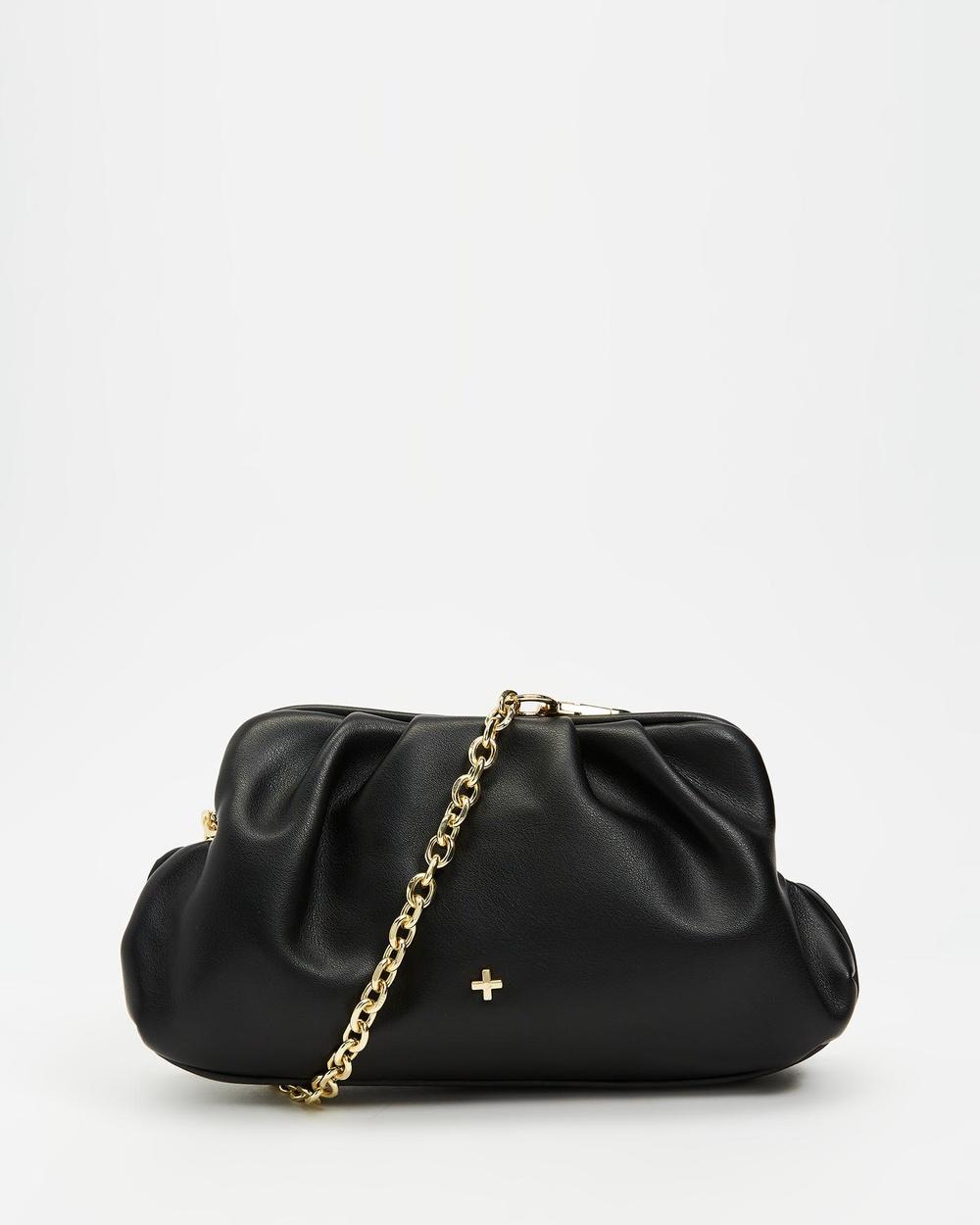 PETA AND JAIN Anthia Handbags Black & Smooth Gold