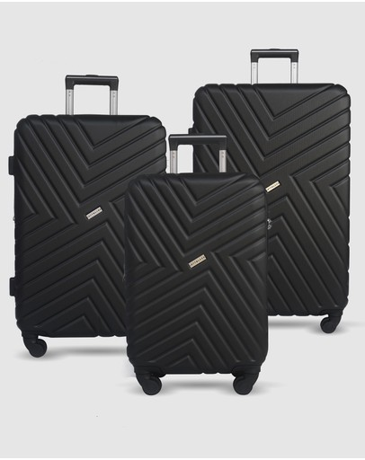 JETT BLACK - Black Maze Luggage Set