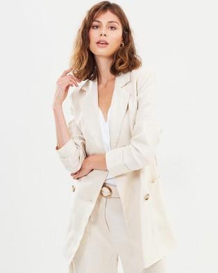 FRIEND of AUDREY Fleur Linen Jacket - Blazers (Sand)