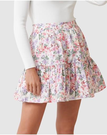 Forever New Claudia Ruffle Mini Skirt Print
