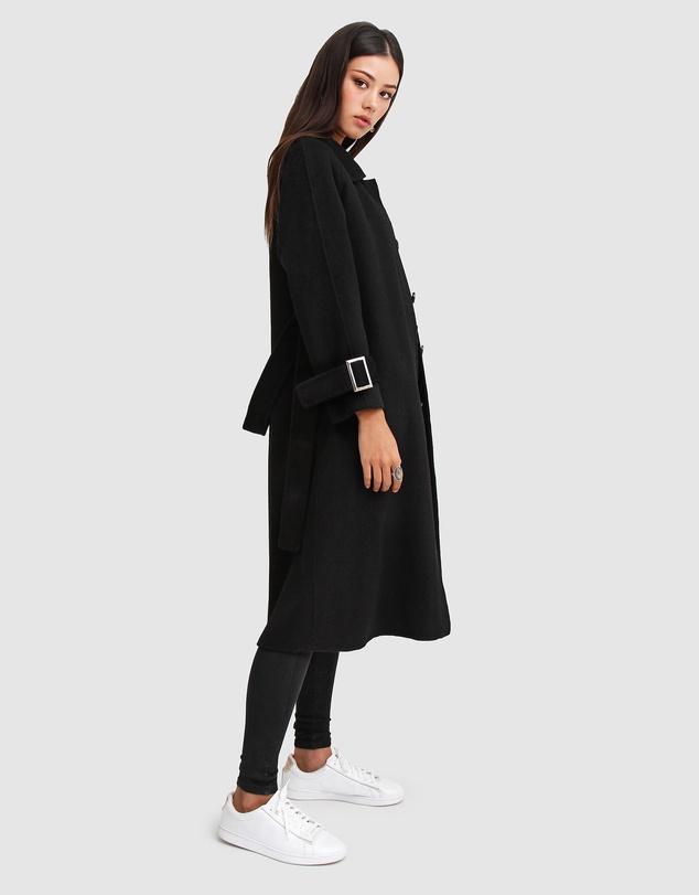 Women Shore To Shore Belted Wool Coat