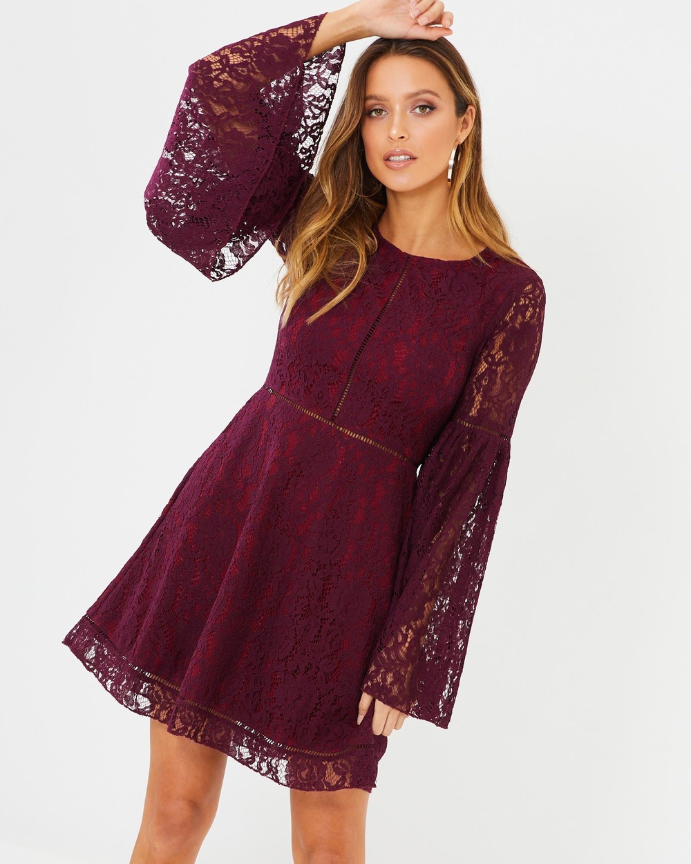 Calli Nina Dress Dresses Burgundy Nina Dress