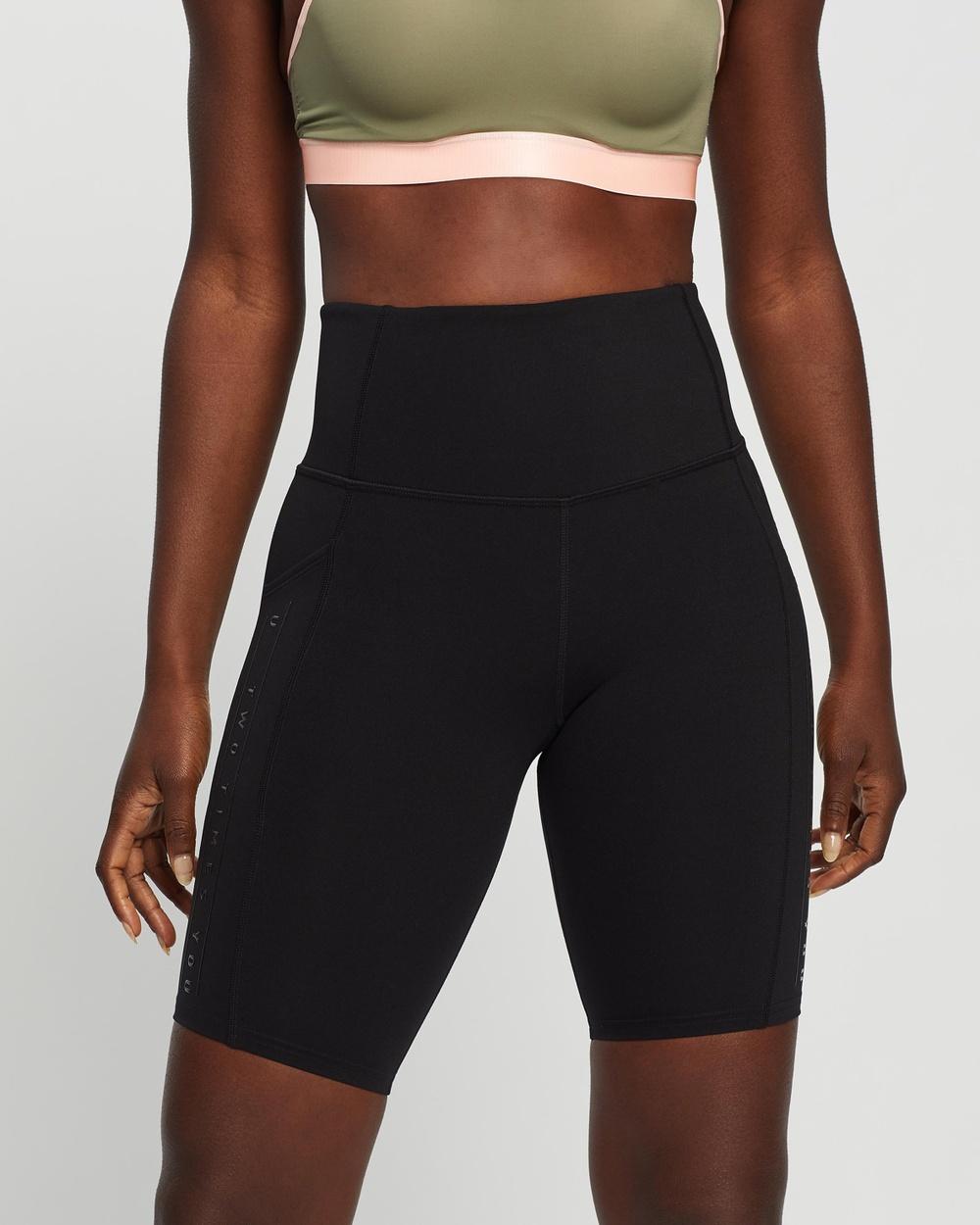 2XU Form Lineup Hi Rise Bike Shorts Sports Tights Black Hi-Rise