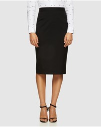 Oxford - Peggy Eco Black Suit Skirt