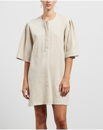 Matin - Concealed Front Placket Dress