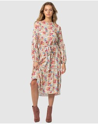 Three of Something - Light Meadow Floral Clovelly Midi Dress