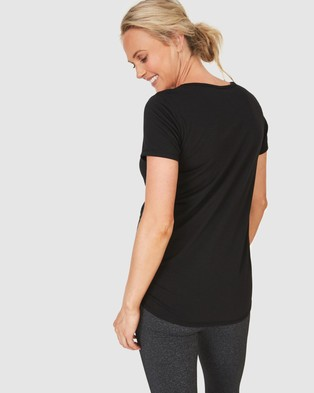Cotton On Body Active Maternity Gym Tee - Short Sleeve T-Shirts (Black)