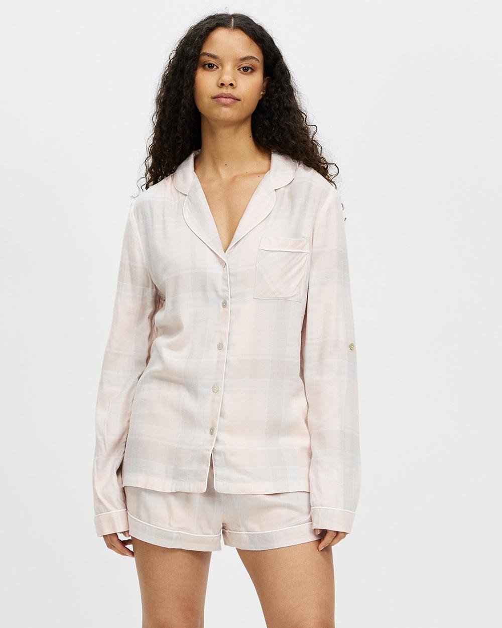 Homebodii Ardelia Long Sleeve With Shorts PJ Set Two-piece sets Blush