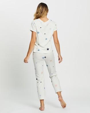 Marks & Spencer Short Sleeve Pyjama Set - Two-piece sets (Oatmeal Mix)