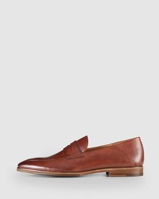 Aquila Fernando Penny Loafers - Dress Shoes (Tan)