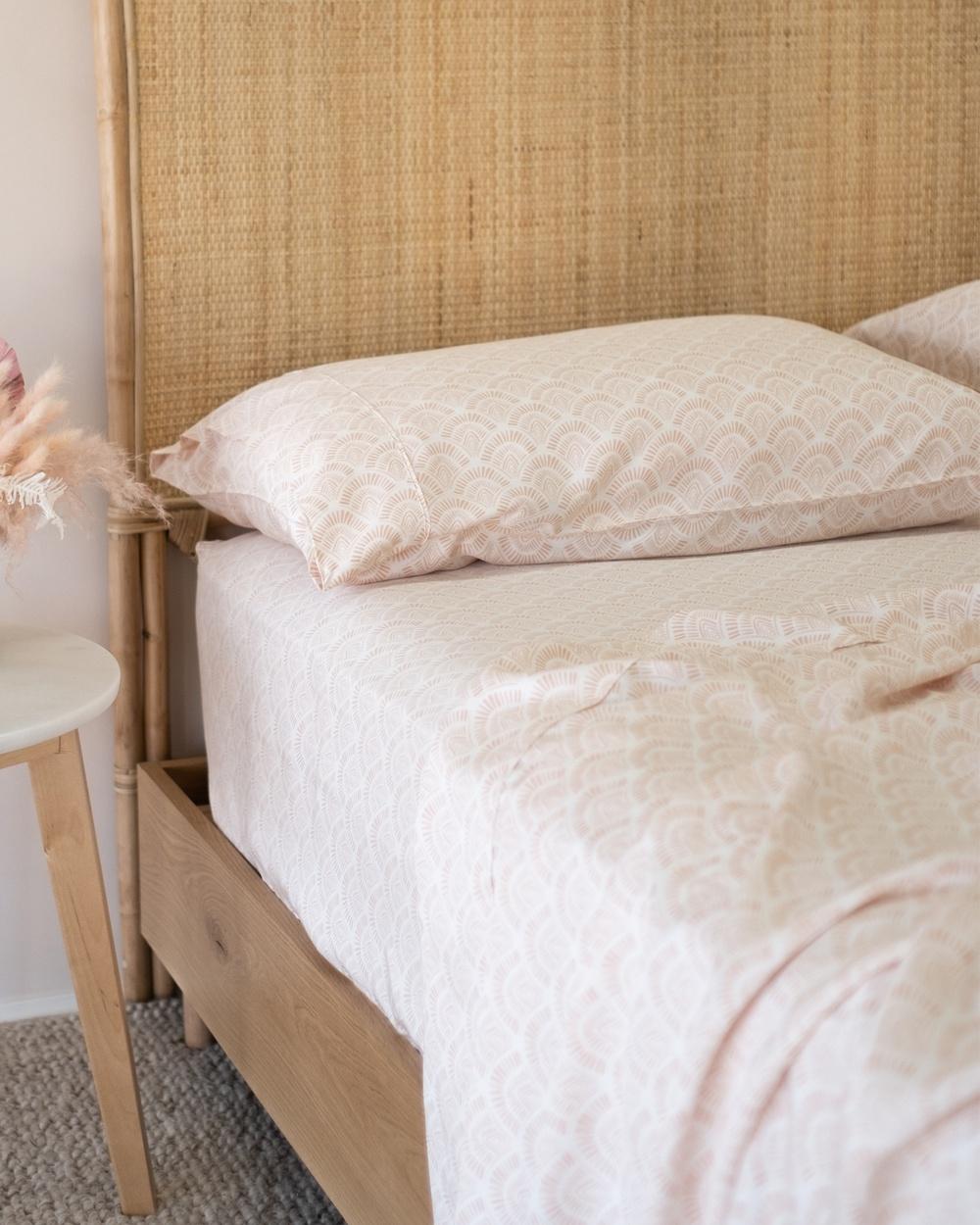Mulberry Threads 100% Organic Bamboo Sheet Set Home Pink Australia