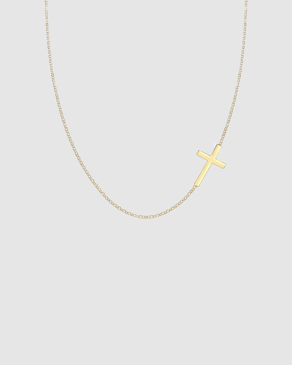 Elli Jewelry Necklace Cross Symbol 925 Sterling Silver Gold Plated Jewellery Gold Gold-Plated