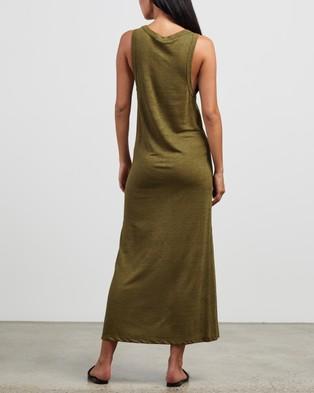 Andrea & Joen Martine Tank Dress - Dresses (Olive)