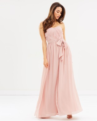 Esther – Dahlia Multi Way Maxi Dress – Bridesmaid Dresses Blush Pink