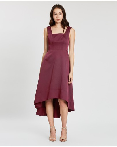 Alabaster The Label Audette Dress Wine Red