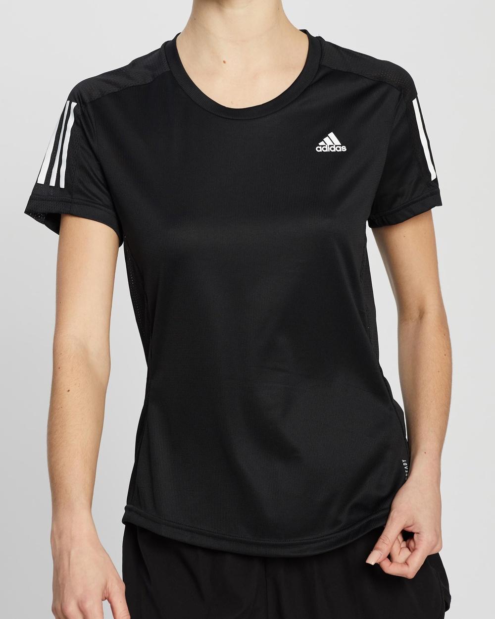 adidas Performance Own The Run Tee T-Shirts & Singlets Black