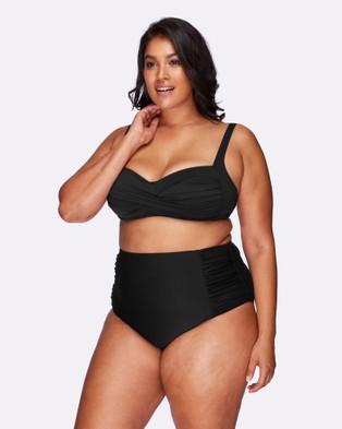 Artesands Hues Black Botticelli High Waist Swim Pant - Briefs (Hues Black)