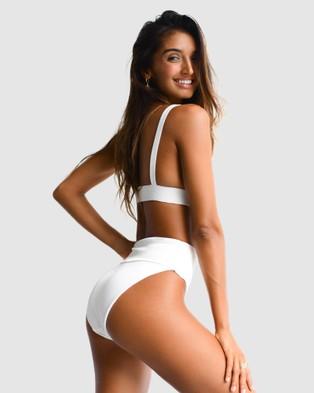 Cali Rae - Jamaica High Waist Bikini Bottoms (White)