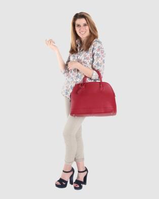 Lux Haide Olivia Tote Handbag - Handbags (Red)