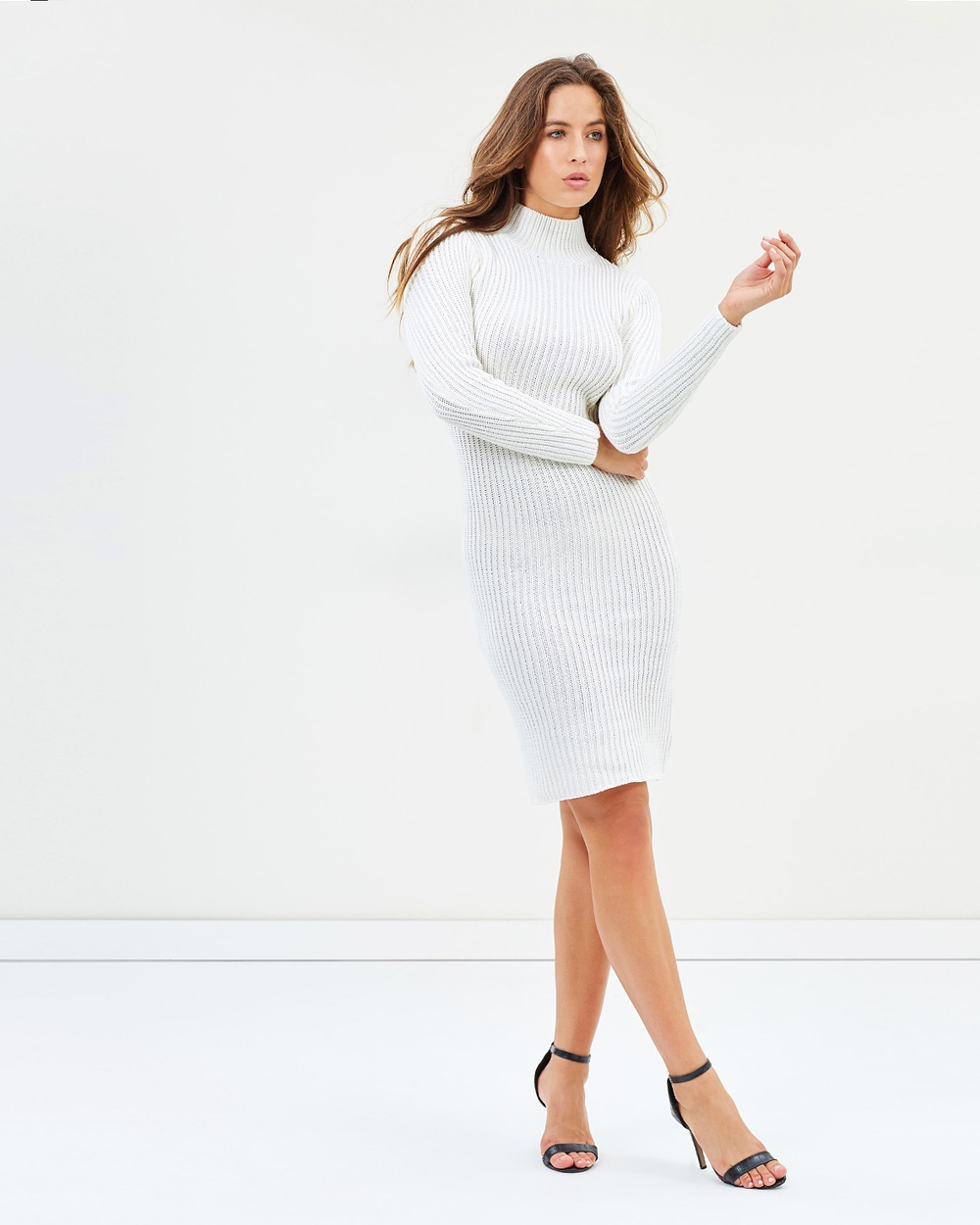 Lioness Manhattan Knit Dress Bodycon Dresses White Manhattan Knit Dress