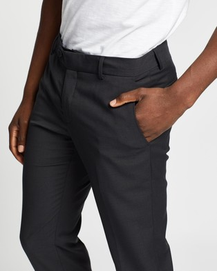 Double Oak Mills Dom Slim Tailored Trousers - Pants (Charcoal)