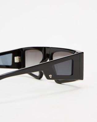 Valley Untitled - Sunglasses (Gloss Black & Grey Gradient)
