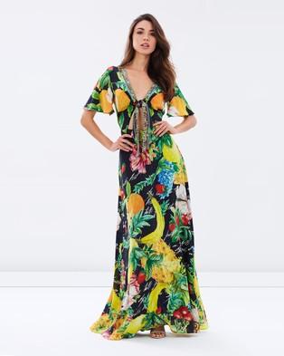 Camilla – Tie Front Maxi Dress Call Me Carmen