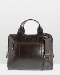 Cobb & Co - Turner Leather Laptop Satchel
