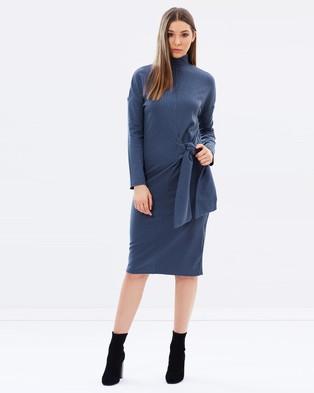 Lost Ink – Tie Waist Sweater Dress