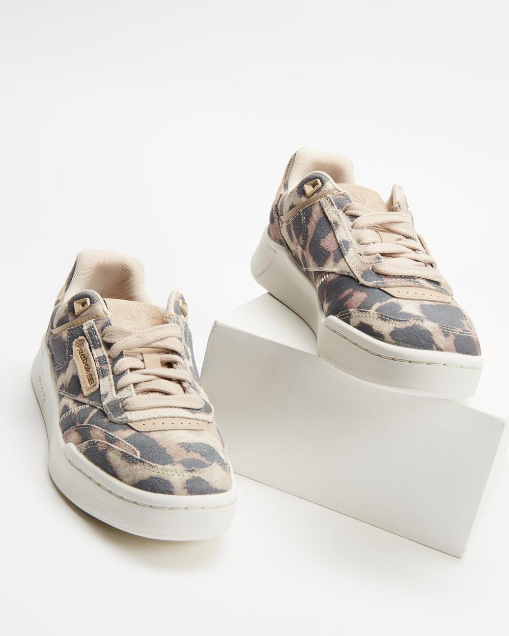 Reebok Club C Legacy Platform Shoes Women's Lifestyle Sneakers Modern Beige, Chalk & Stucco
