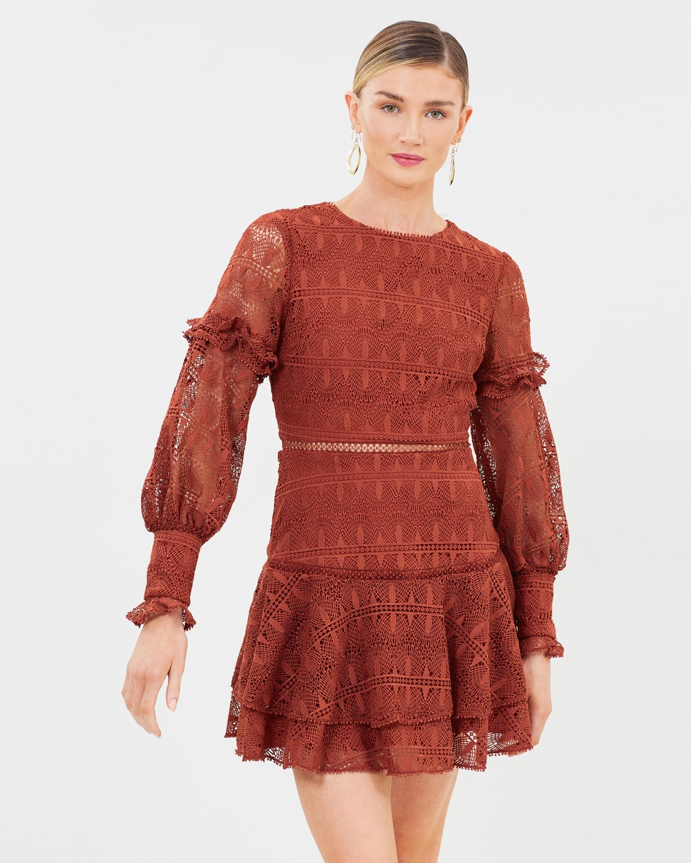 Ministry of Style Camellia Mini Dress Dresses Terracotta Camellia Mini Dress