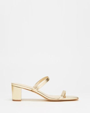 Atmos&Here - Sunny Leather Heels Shoes (Soft Gold Leather)