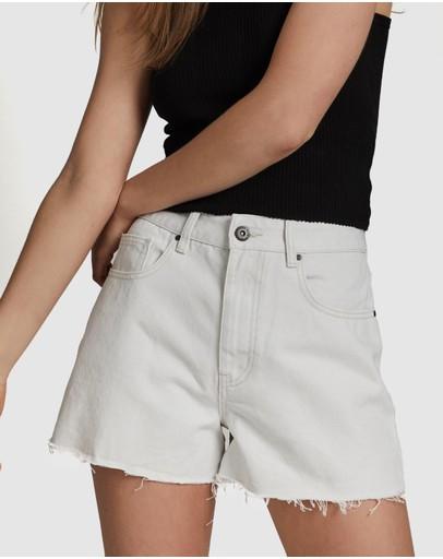 Cotton On High Mom Denim Shorts Whitehaven