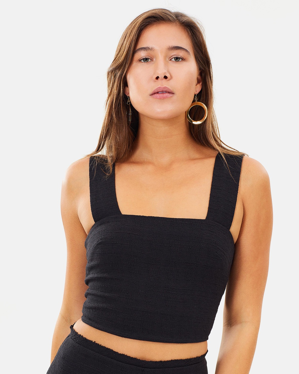Bec & Bridge Catalina Ave Top Cropped tops Black Catalina Ave Top