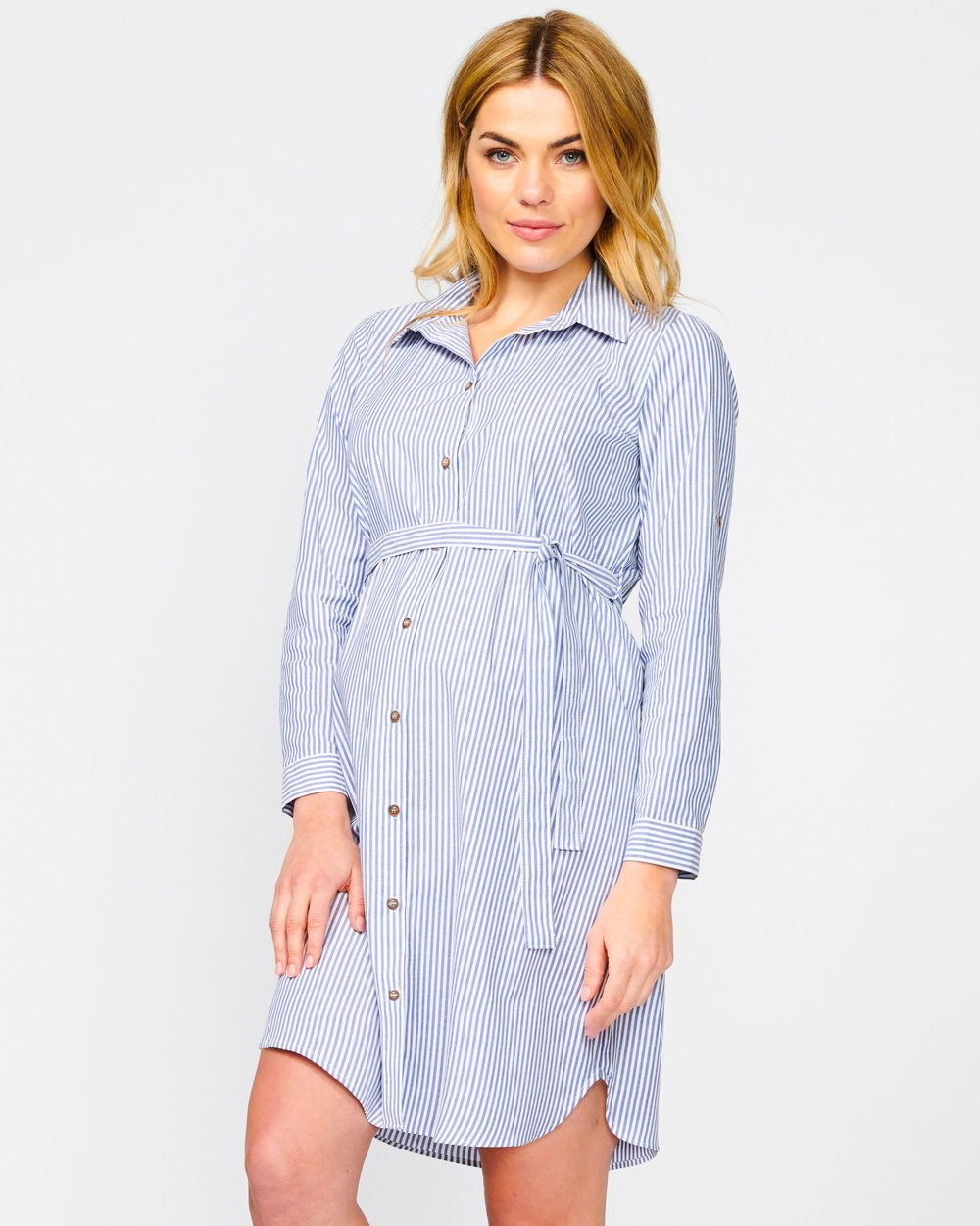 4c640bf96baa6 Abbey Shirt Dress by Pea in a Pod Maternity Online | THE ICONIC | Australia