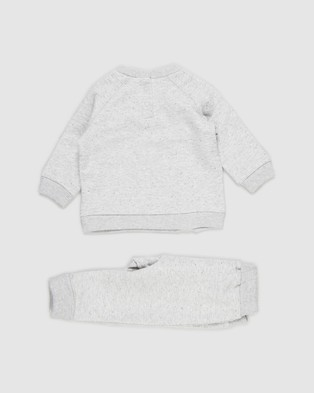 Cotton On Baby Harley & Tatum Tracksuit Babies Sweats Cloud Marle Rabbit Grey Nep