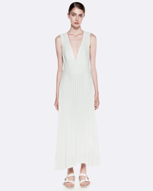 Dion Lee – Trapeze Pleat Dress – Dresses (Ivory)