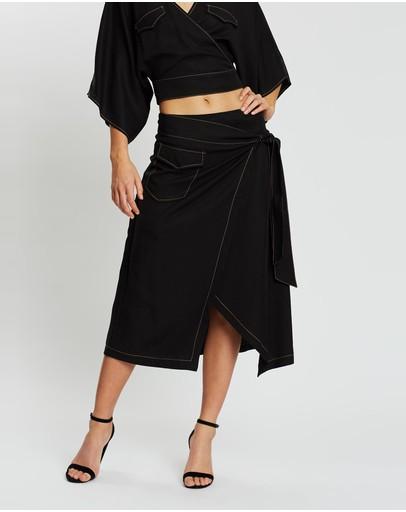 Third Form Western Wrap Skirt Black
