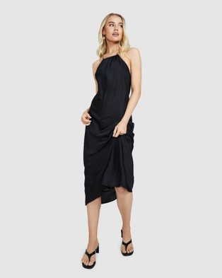 Alice In The Eve Hannah Halter Midi Dress - Dresses (BLACK)