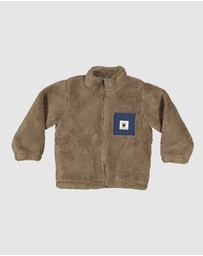 Quiksilver - Boys 2-7 Van Life Sherpa Half-Zip High Collar Sweatshirt